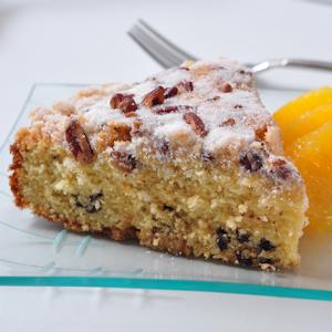 Orange Cornmeal Cake with Currants | dlyn