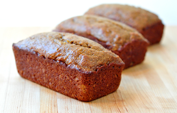 loaves of butternut squash quick bread