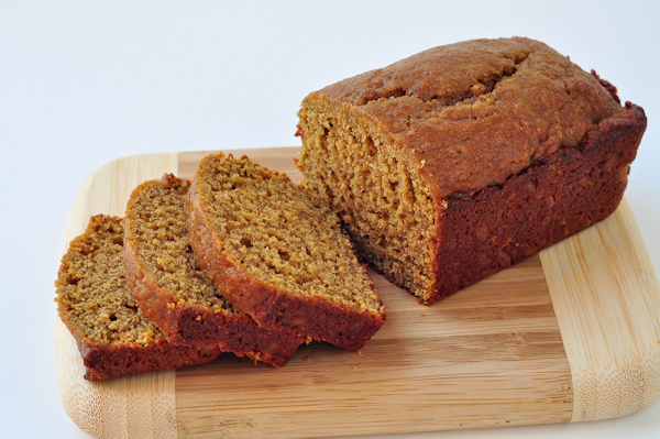 sliced loaf of butternut squash quick bread