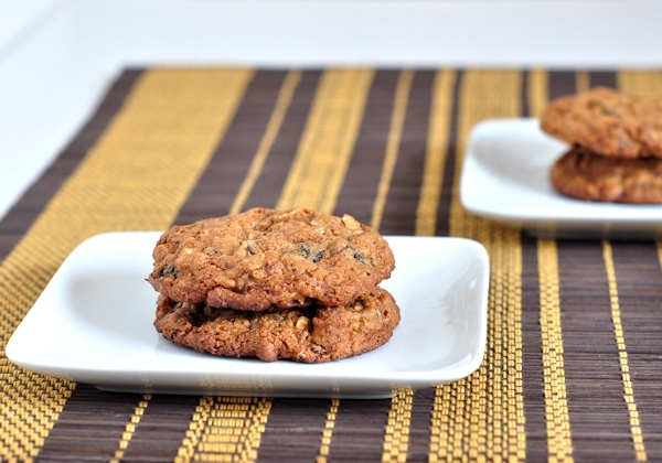 dried plum and oatmeal cookies
