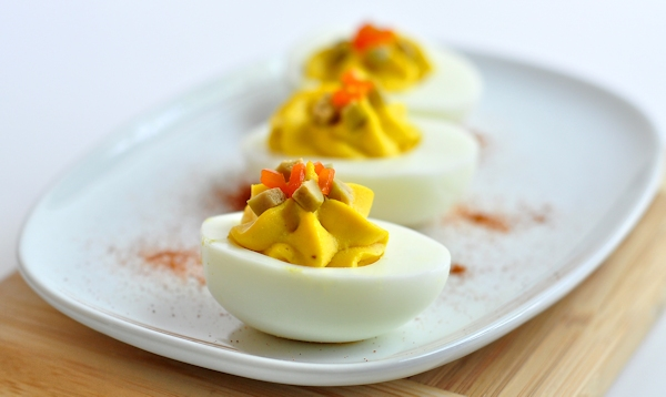 """Dirty"" Deviled Eggs"