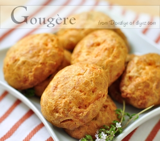 herbed gougeres on serving plate