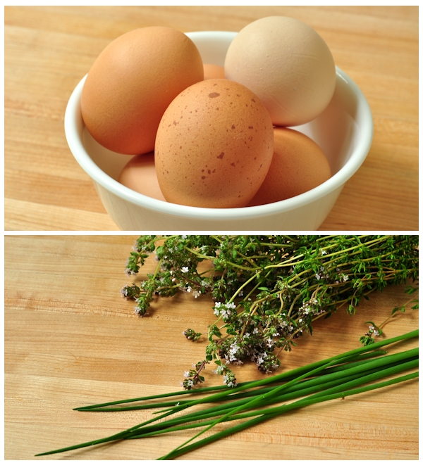 herb and eggs