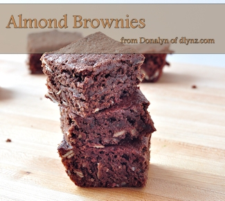 Stack of Almond Brownies