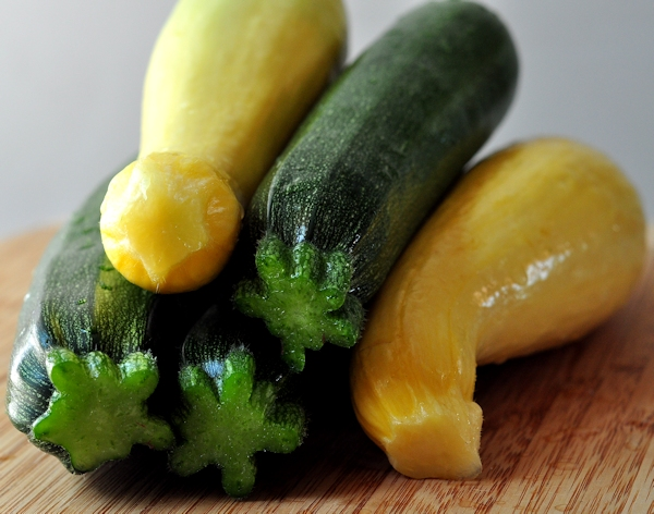 fresh zucchini and summer squash